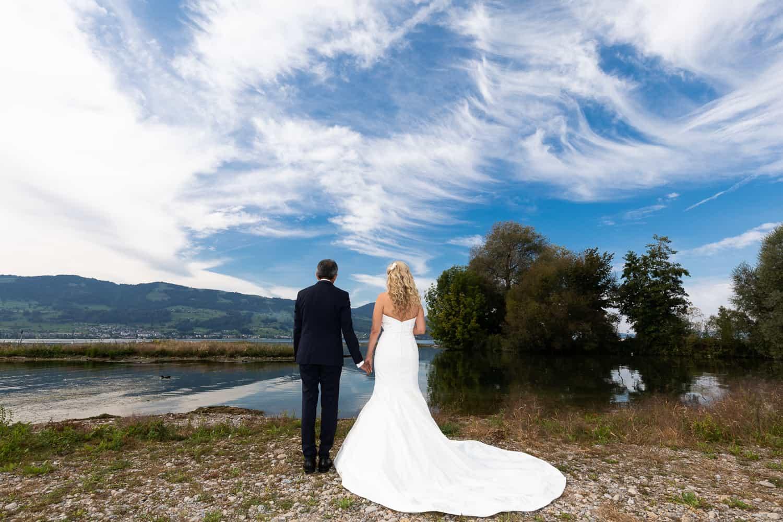 wedding at the zurich lake
